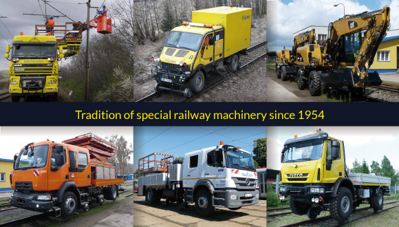 SaZ is a long-standing tradition specialist in the field of design, production and repairs of special railway construction machinery, road trucks, and Road-Rail vehicles with superstructures and equipment designed for maintenance of railway and tramway tracks and overhead lines. Superstructures include insulated scissor and telescopic platforms, welding machines, and containers. Railway machinery range from cranes, access ramps, trailers, carriers, boogies, to track layers. Welding, turning, milling, cuttering, as well as service and inspection are part of company's activities.